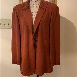 St John Knit Twill Jacket XL